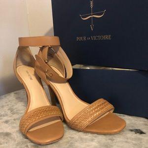 Pour La Victoire YaYa Braided Sandals Cigar Color